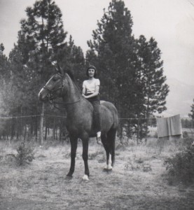 On my horse, Babe -- Montana farm